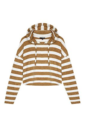 Beige and White Chenille Jumper