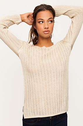 Pullover Beige con Cut Out