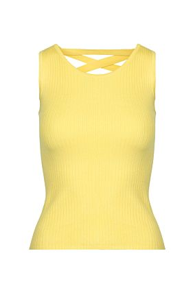 Yellow Open Back Top
