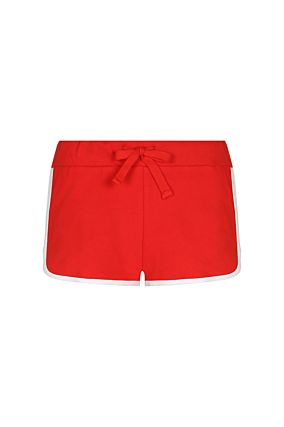 Red Sport Mini Shorts