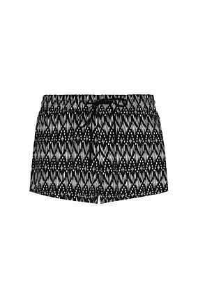 Black Printed Shorts