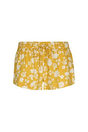 Yellow Shorts with Floral Print