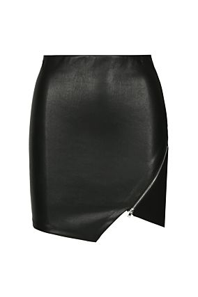 Black Asymmetric Skirt