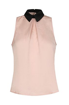 Light Pink Sleeveless Blouse