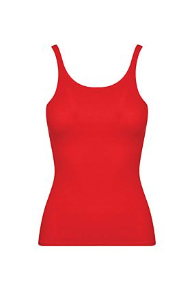 Rotes, ärmelloses Basic Top