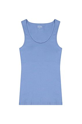 Blue Basic Sleeveless Top