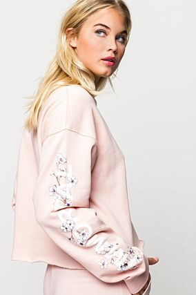 Light Pink Printed Sweatshirt