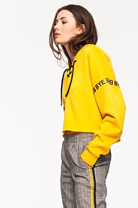 Yellow Printed Sweatshirt