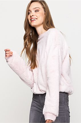 Pink Fluffy Jumper