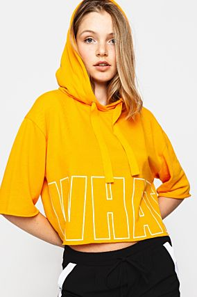"Orange ""Whatever"" Hoodie"