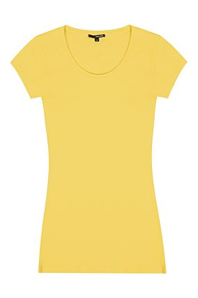 Top Basique Long Jaune