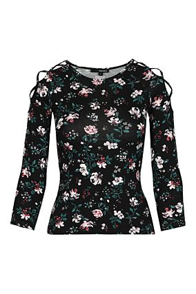 Floral Print Basic Top