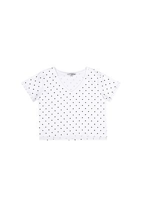 White Polka Dot Crop Top