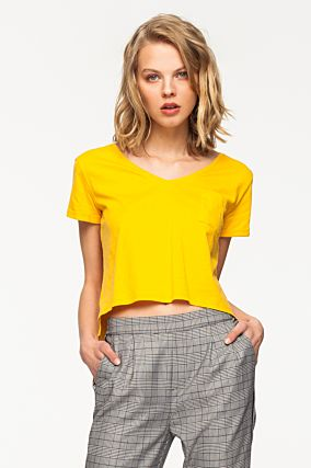 Yellow T-Shirt with Pocket