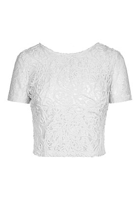 White Transparent Lace Top