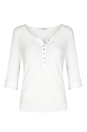 White Basic Top with Buttons
