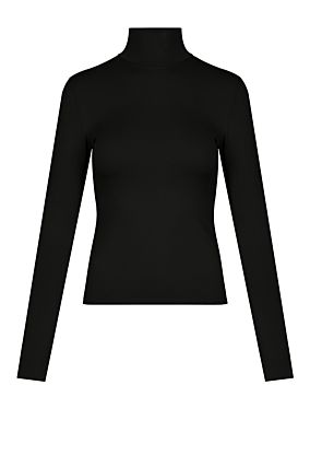 Black High Neck Top