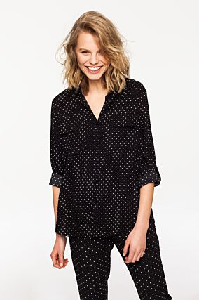 Black Polka Dot Shirt