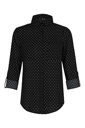 Fitted Polka Dot Shirt