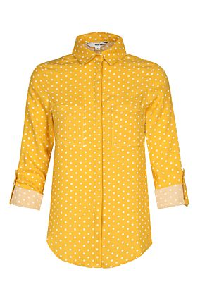 Yellow Polka Dot Shirt