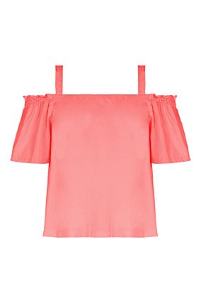 Pink Bare Shoulder Top
