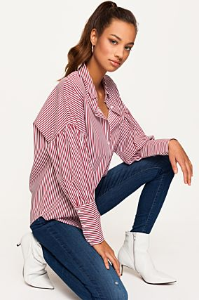 White and Red Stripped Shirt