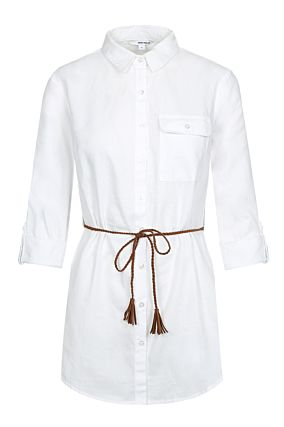 White Knot Front Shirt