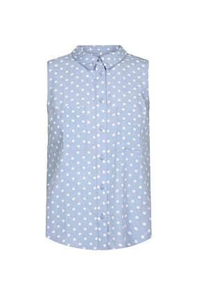 Blue Polka Dot Shirt