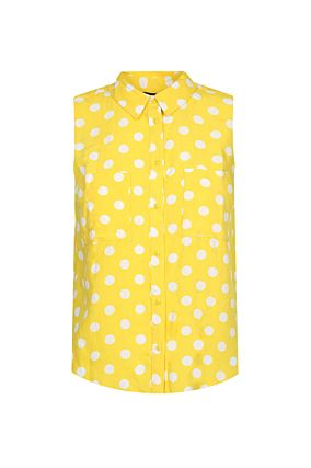 Yellow Sleeveless Shirt