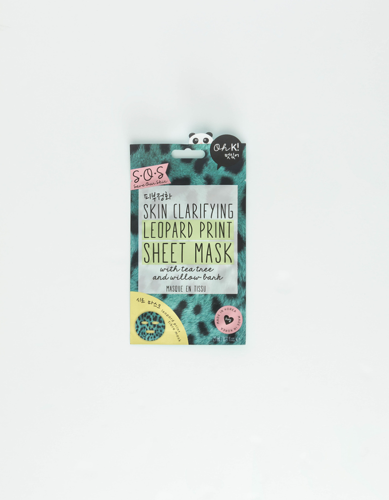 Oh K! Skin Clarifying Leopard Print Sheet Mask by Tally W Ei Jl