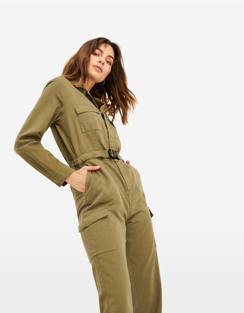 Discover best shoes find lowest price Khaki Utility Jumpsuit