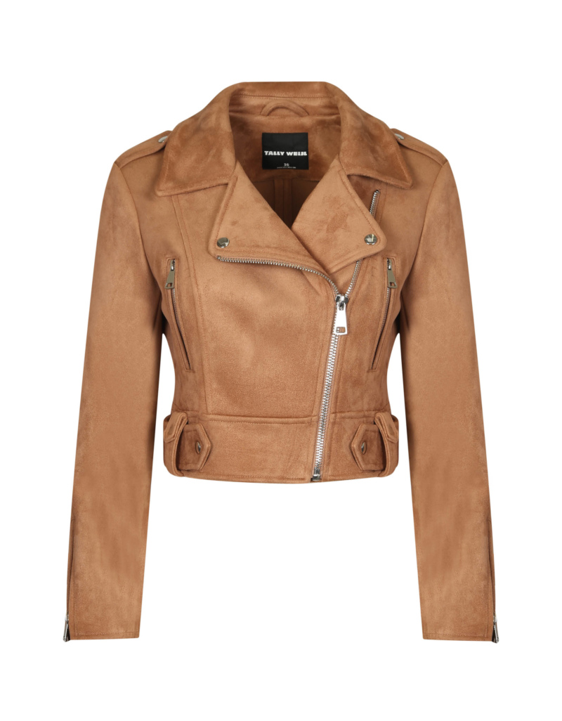 get cheap cheap for sale order online Beige Suedette Biker Jacket