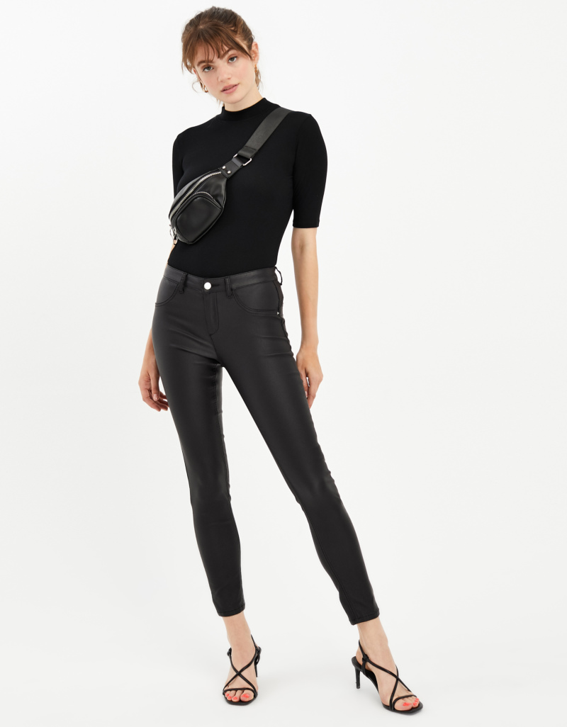 Medium Waist Push Up Skinny Trousers by Tally W Ei Jl