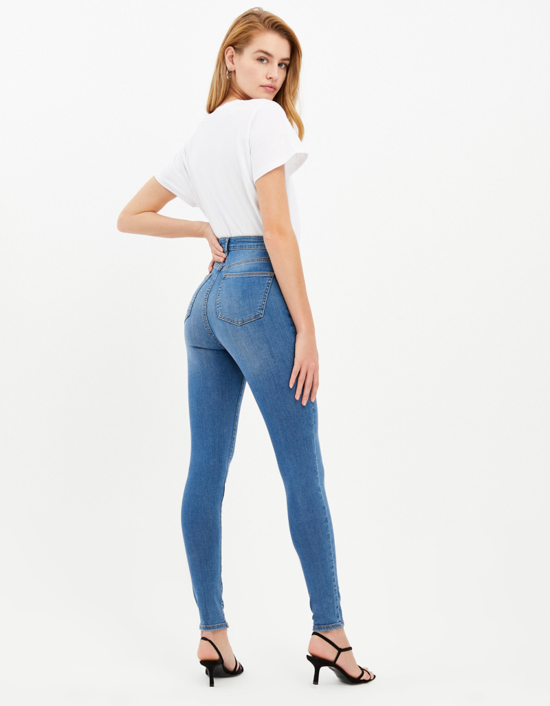 great quality promo codes famous brand Jean Skinny Taille Haute