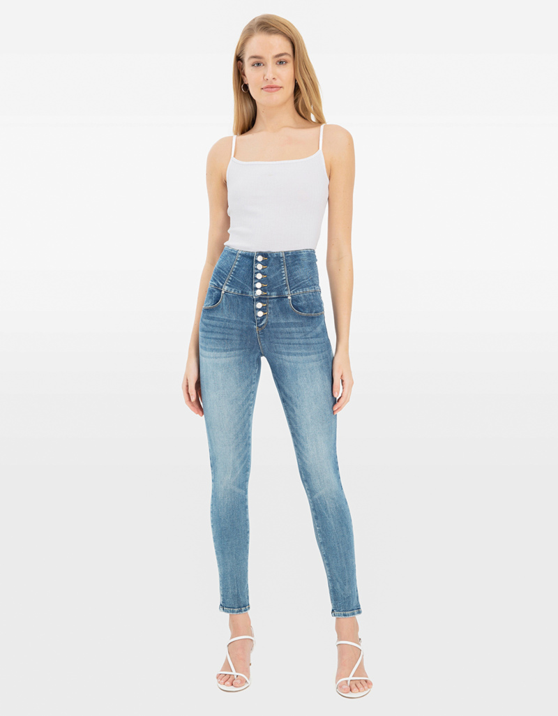 top-rated cheap autumn shoes purchase original Very High Waist Skinny Jeans
