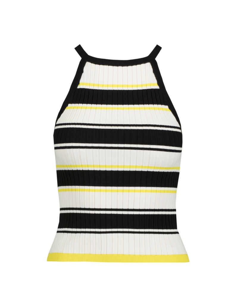 b9738074611dd7 Striped Fine Knit Tank Top