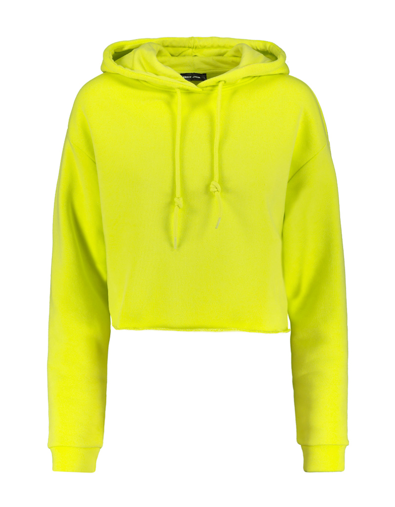 Lime Cropped Hoodie by Tally W Ei Jl