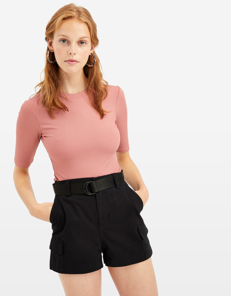 original 100% authentic great discount for Pink Ribbed Top