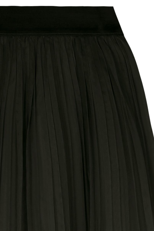 Green Chiffon Midi Skirt