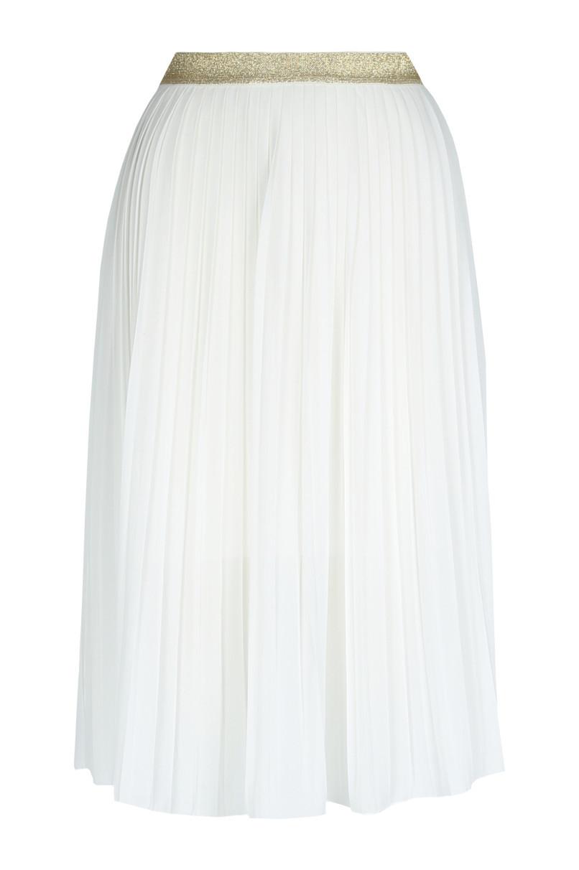 White Chiffon Midi Skirt