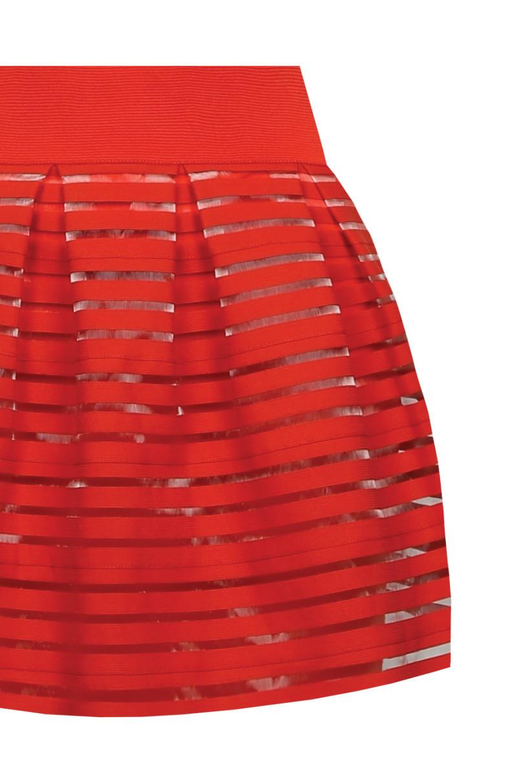 Bright Red Skater Skirt