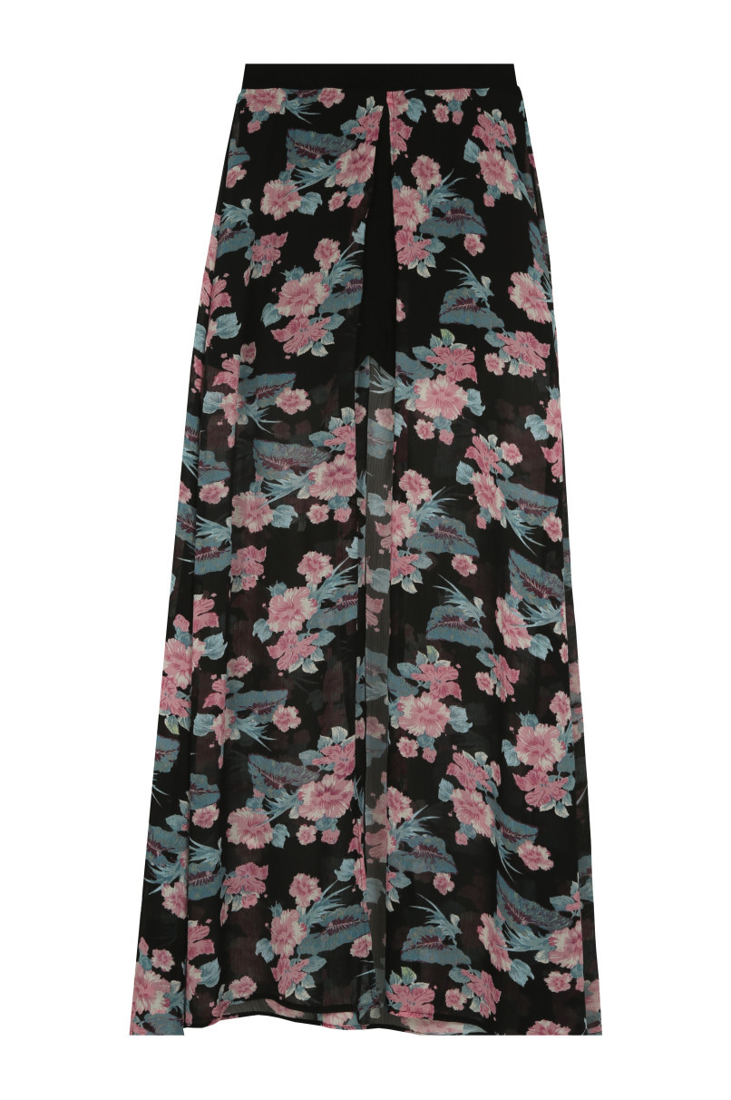 Floral Skirt with Mini Shorts